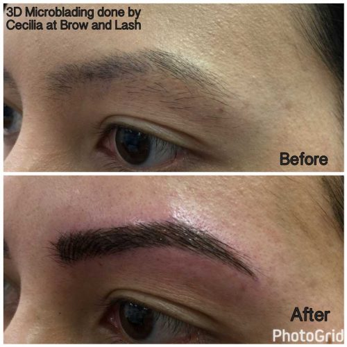 Before and After Brow and Lash - Eyebrow, Eyelash, Permanent Makeup and Eyelash Extensions by experienced Makeup Artist & Esthetician Cecilia Lim located in Mercer Island, WA.