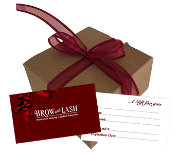 Gift Card. Before and After Brow and Lash - Eyebrow, Eyelash, Permanent Makeup and Eyelash Extensions by experienced Makeup Artist & Esthetician Cecilia Lim located in Mercer Island, WA.
